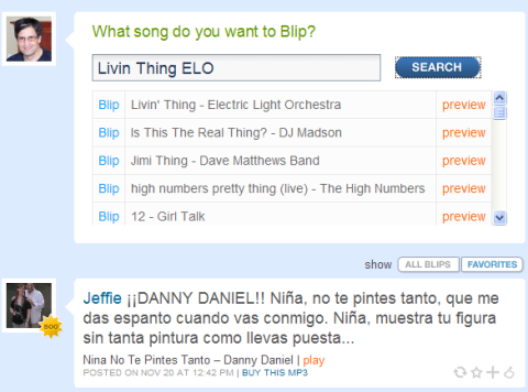 search results, the most recent blip by one of my favorite DJs